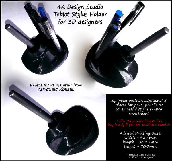 design tablet stylus holder model