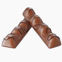 chocolate bar kinder bueno 3D