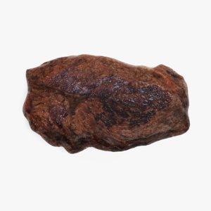 3D rare rump steak