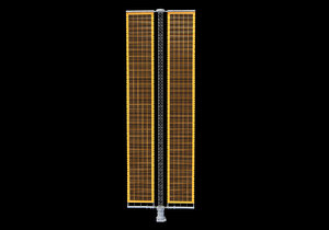 solar array panel iss 3D model