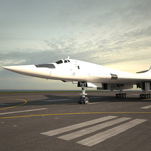 3D tupolev tu-160 tu model