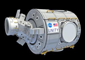 3D unity node 1 iss
