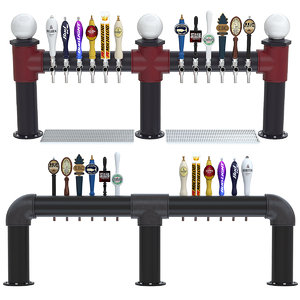 3D industrial beer towers model