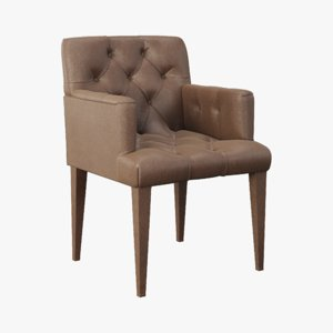 armchair nelly giulio marelli 3D model