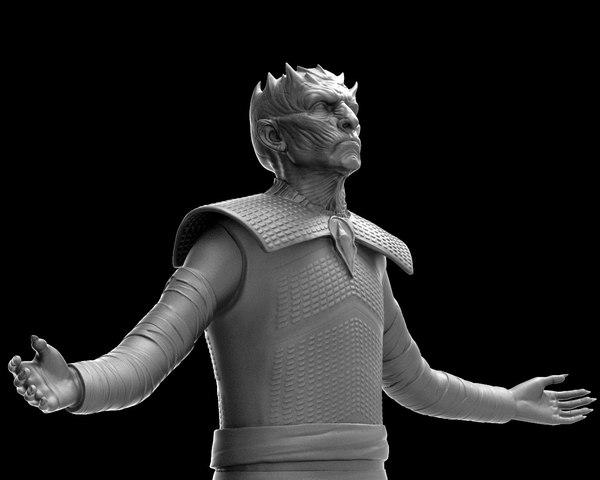 3D night king body