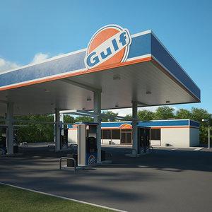 3D gulf gas model