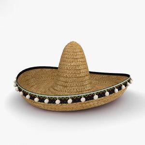 3D sombrero hat model