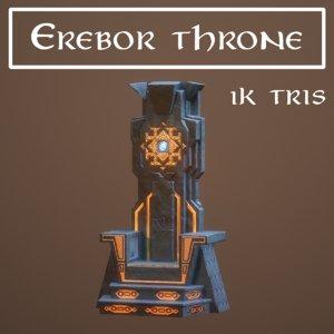 3D erebor throne