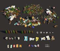 3D garbage dirt