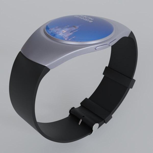 digital watch 3D model