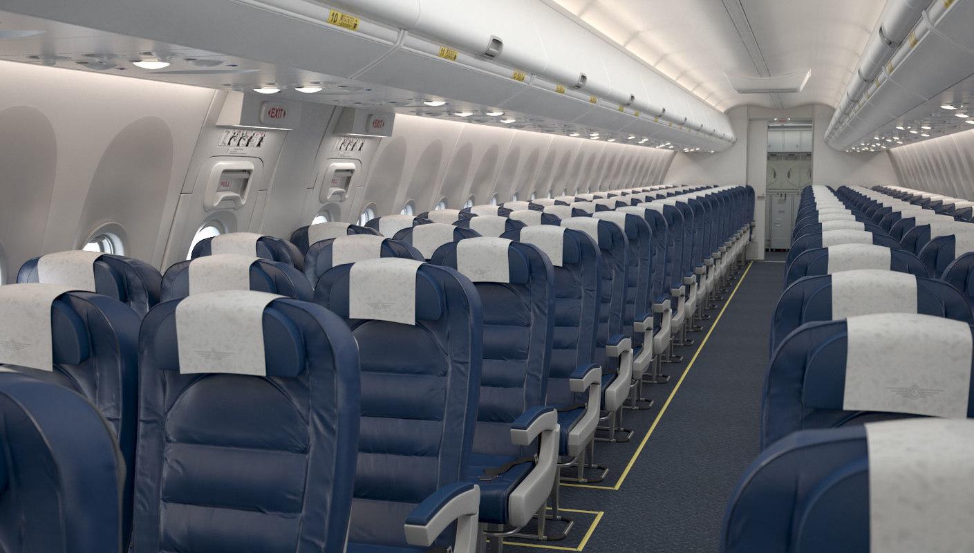 3d Boeing 737 Cabin Turbosquid 1403589