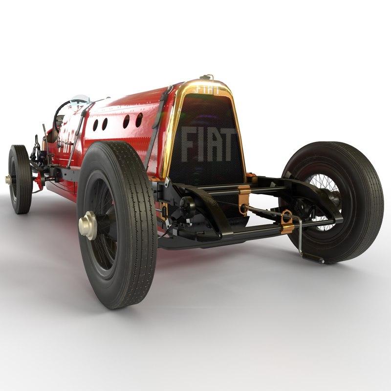 3D record car fiat mefistofele