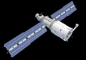 3D zvezda service module iss model