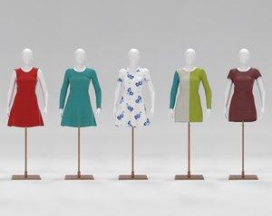 mannequin clothes 3D model