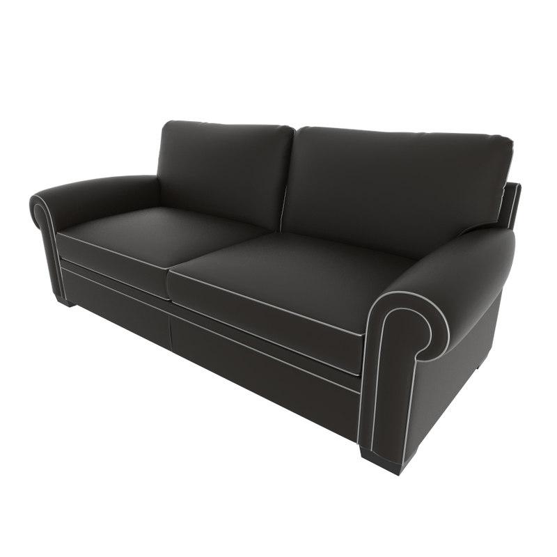 3D model modern contemporary sofa