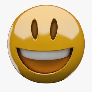 emoji grinning face big 3D
