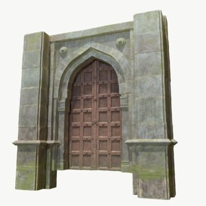 fantasy gates castle doors 3D model