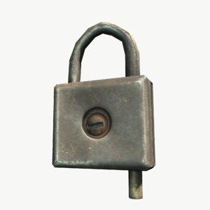 3D model doorlock lock