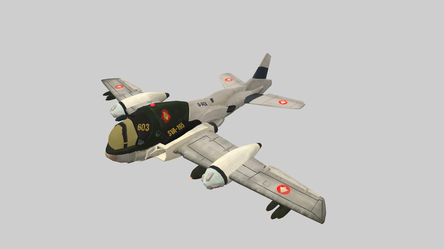 va fighter plane aaa model