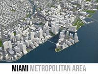 3D city miami metropolitan area model