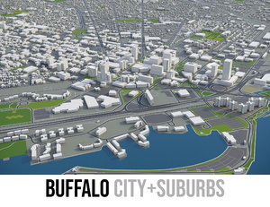 city buffalo - 3D model
