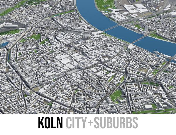 city koln - 3D model