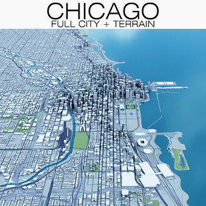 chicago terrain city 3D