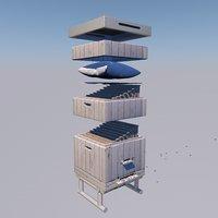 hive beehive 3D model