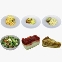 3D model dessert meal food