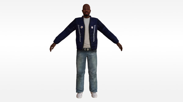 african male rigged vr 3D