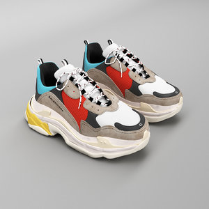 3D balenciaga kicks model