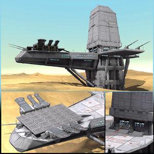 sci-fi planet base model