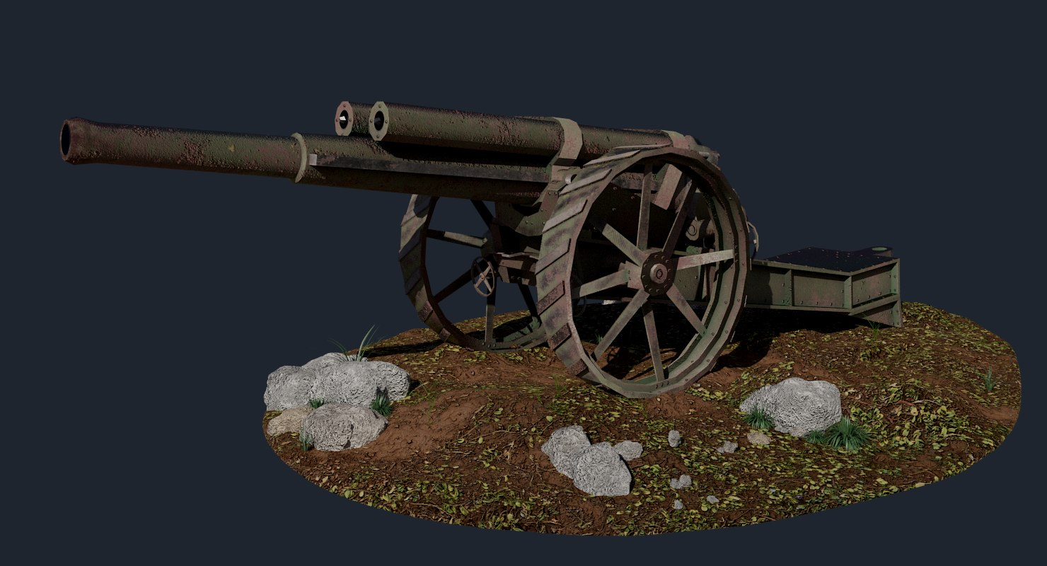 bl 60-pounder mark 1 3D model