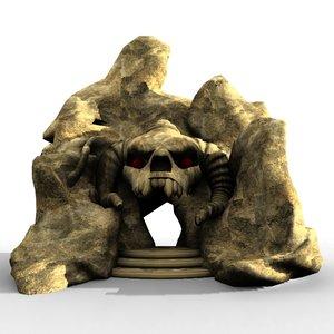 stone gate skull 3D model