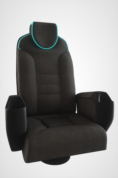3D chair neon light pbr