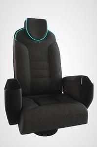 3D chair neon light pbr