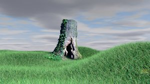 photogrammetry tree trunk hole 3D model
