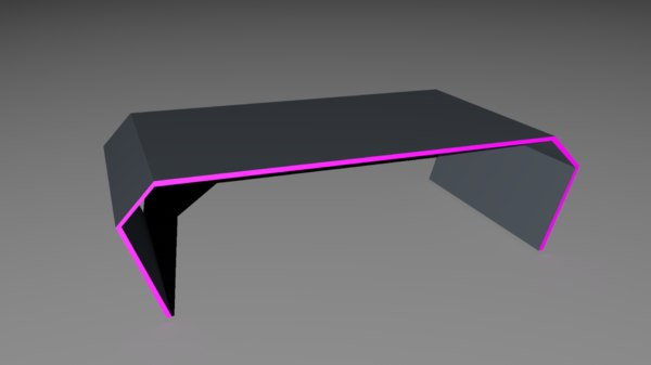 desktop desk 3D