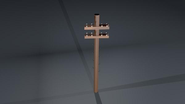 electric pillar 3D