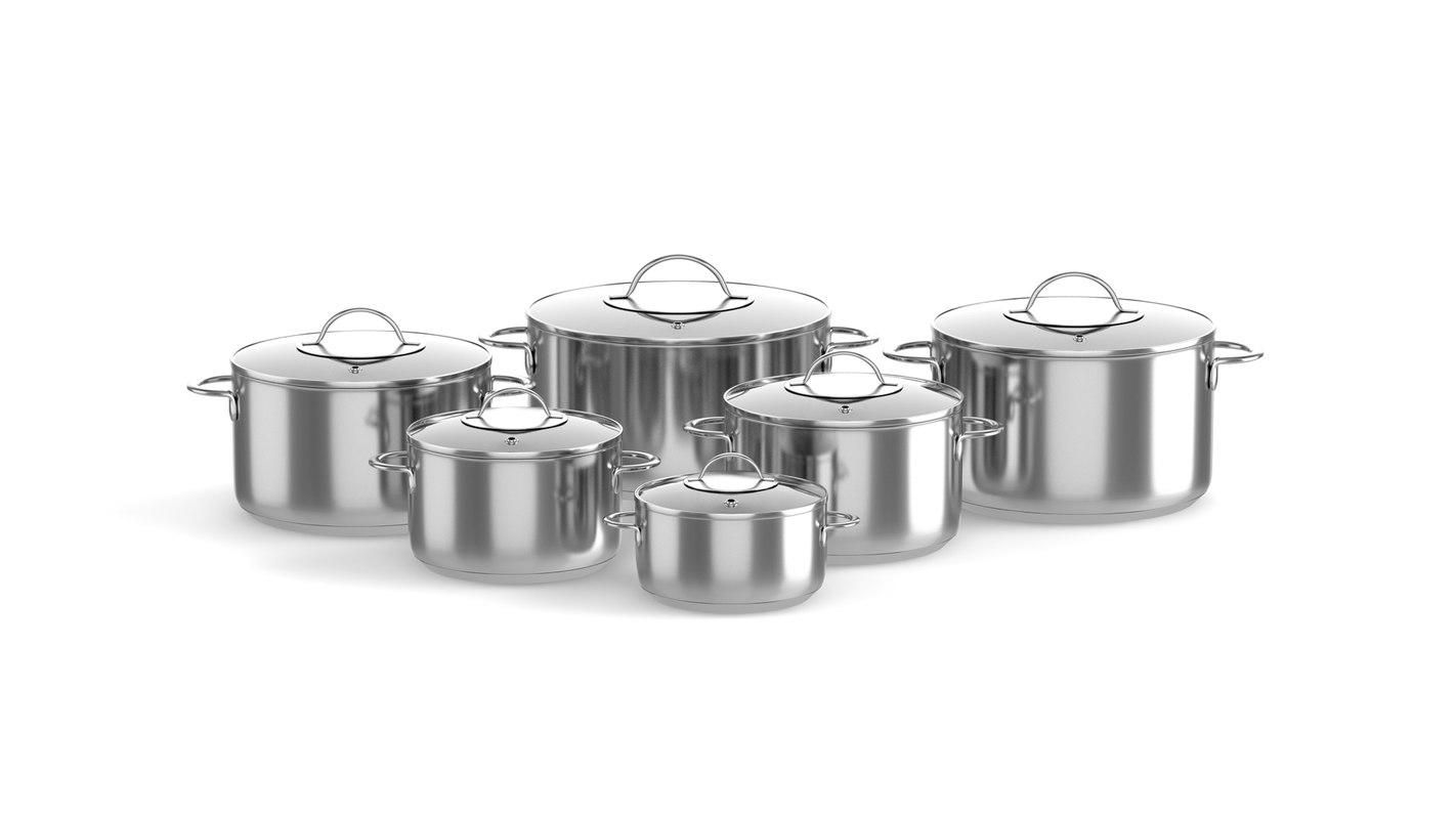 steel cooking pots model
