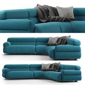 3D model jardan valley sofa modular