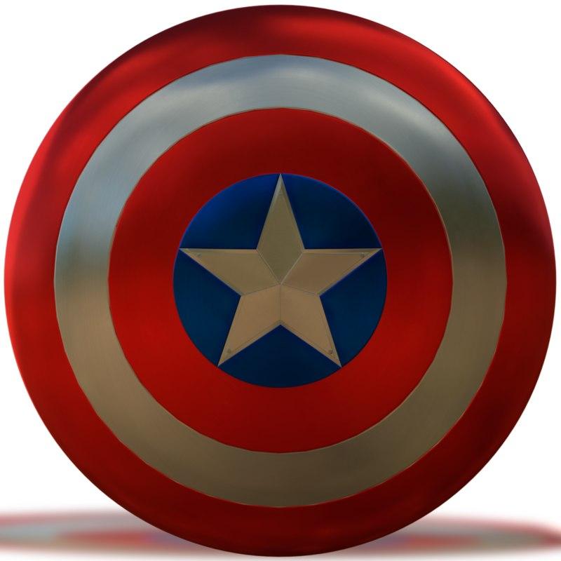 captain america shield marvel 3D model
