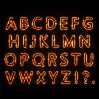 Neon Alphabet 2