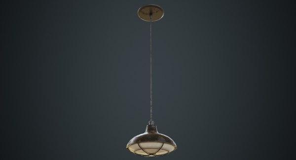 3D hanging lamp 5c model
