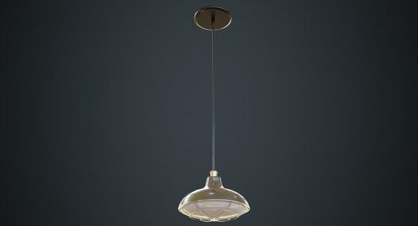 3D model hanging lamp 5b