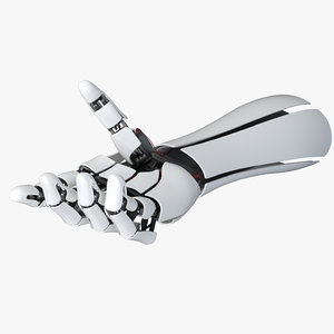 3D robot hand arm rigging model