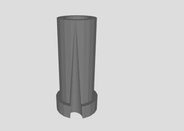 3D dust plug tubes model