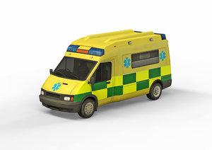 3D medical car model