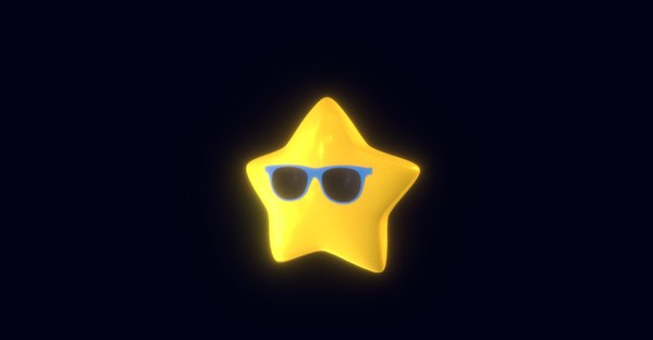 3D model star sunglasses