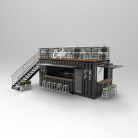 3D model container cafe restaurant
